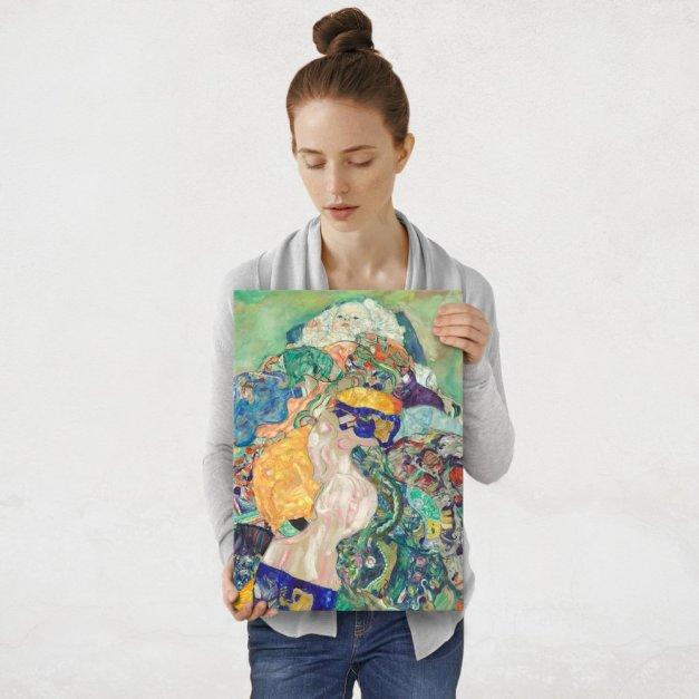 Plakat metalowy Gustav Klimt Baby Cradle M