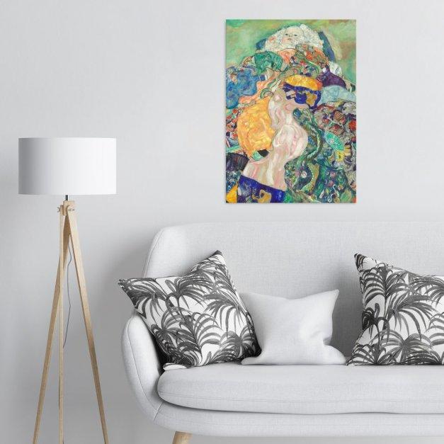 Plakat metalowy Gustav Klimt Baby Cradle L