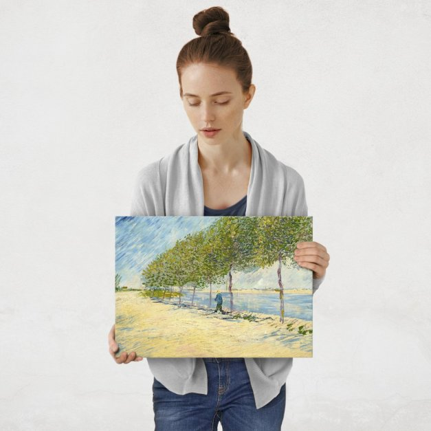 Plakat metalowy Vincent Van Gogh By The Seine M