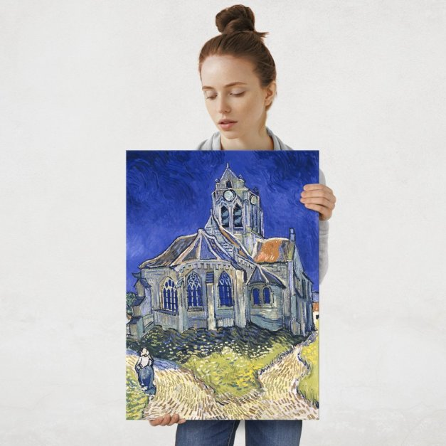 Plakat metalowy Vincent Van Gogh The Church in Auvers-sur-Oise, View from the Chevet L