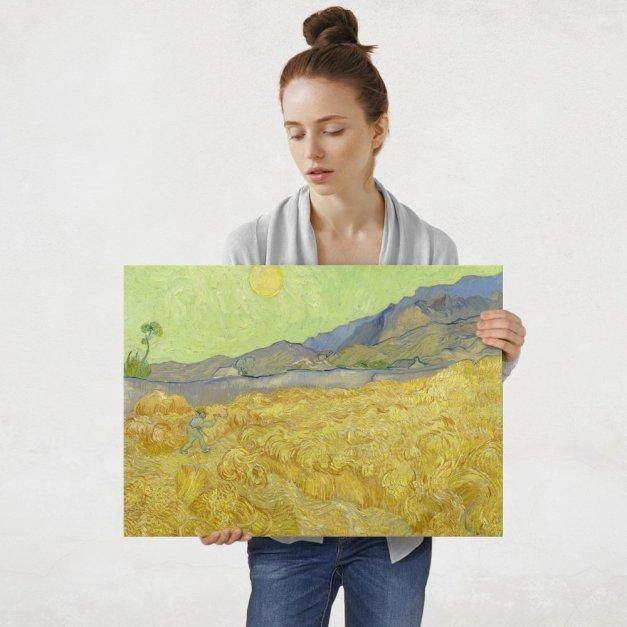 Plakat metalowy Vincent Van Gogh Wheatfield with a Reaper L