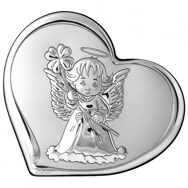 Obrazek Srebrny Aniołek 14cm GRAWER