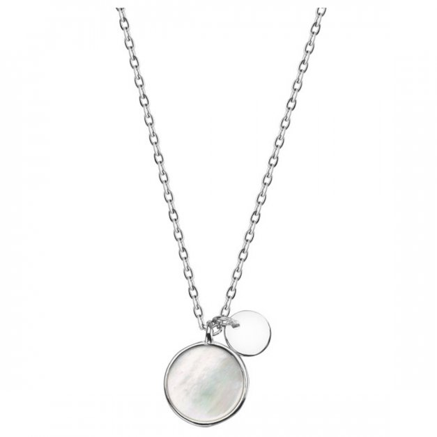 Srebrny naszyjnik 925 z masą perłową prezent