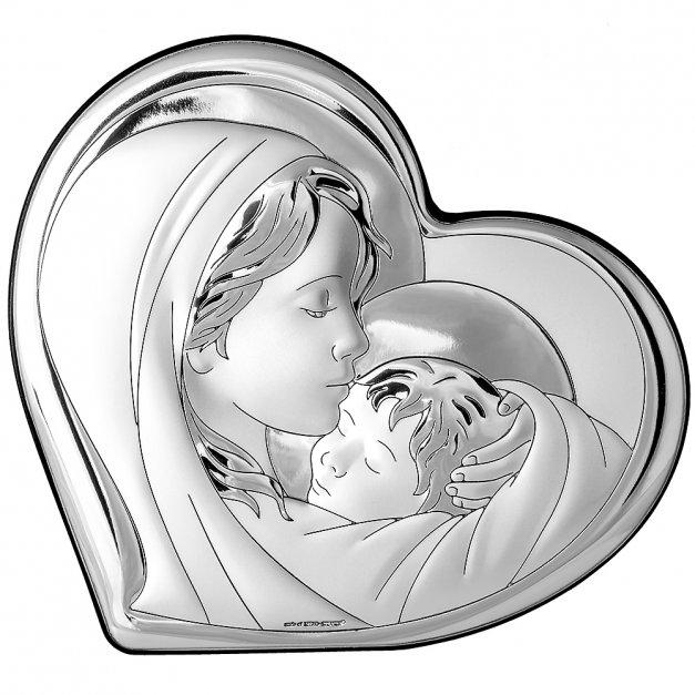 Obrazek Srebrny Matka Boska 14cm GRAWER