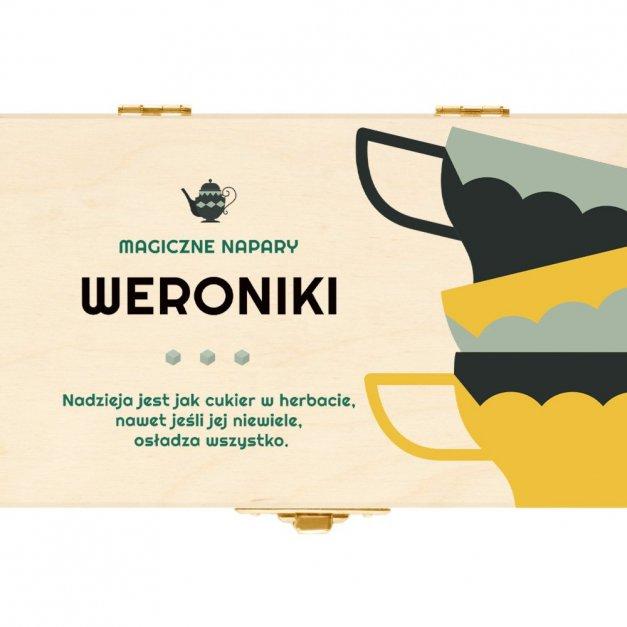 Herbata w Drewnianej Skrzynce z Nadrukiem Magiczny Napar