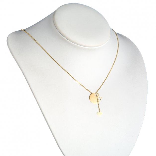 Złoty Naszyjnik Celebrytka 585 GRAWER