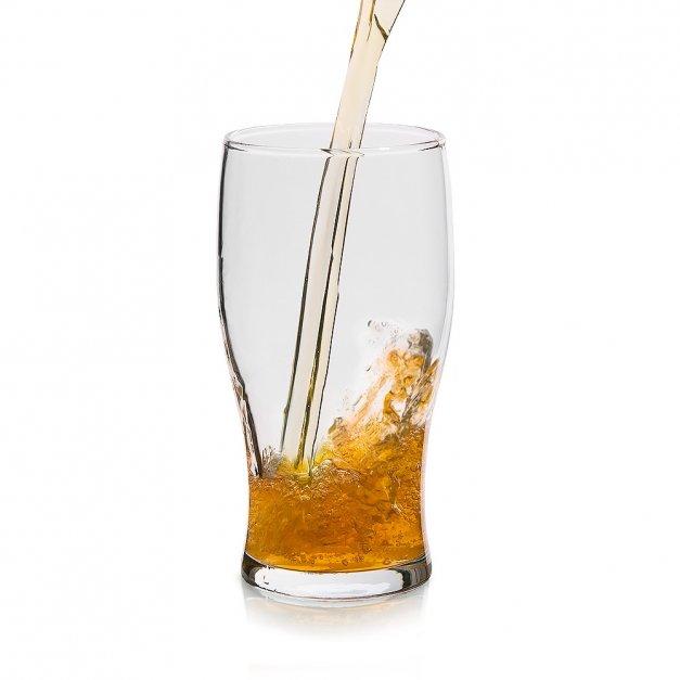 Kufel szklany szklanka do piwa z grawerem dla brata