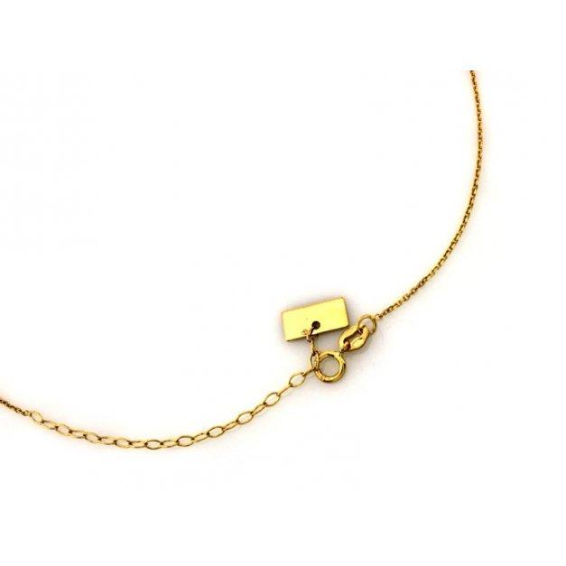Złoty naszyjnik 333 z imieniem prezent grawer
