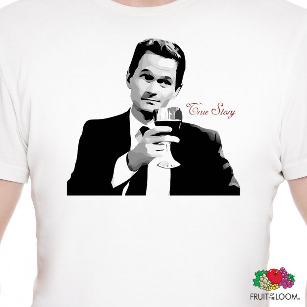 Koszulka Męska z Twoim Nadrukiem TRUE STORY