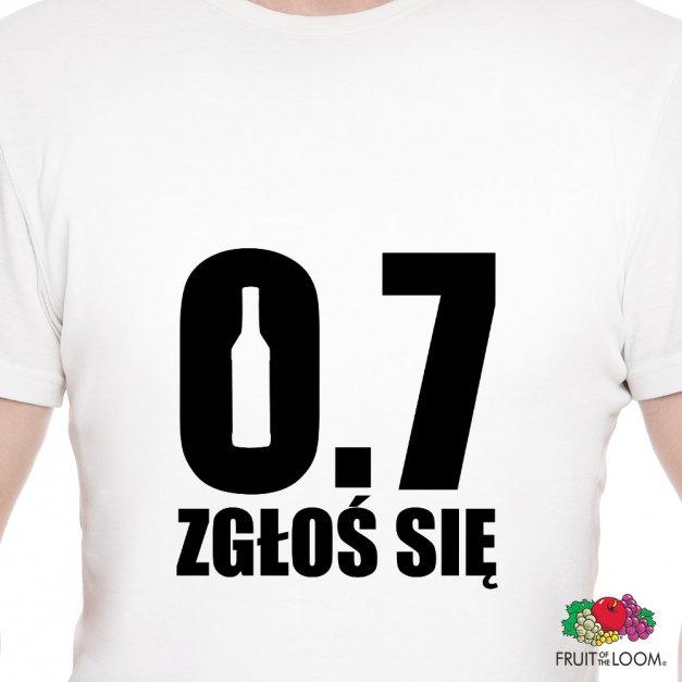 Koszulka Męska z Twoim Nadrukiem ZGŁOŚ SIĘ
