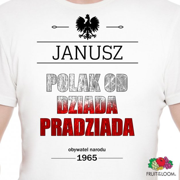 Koszulka Męska z Twoim Nadrukiem POLAK