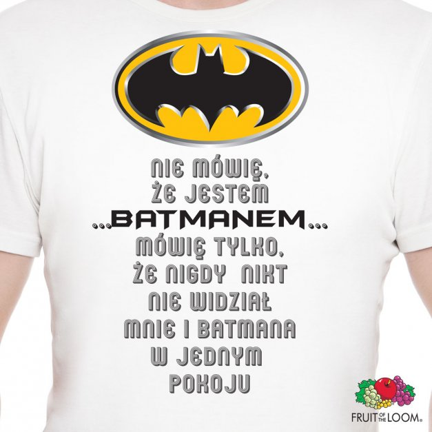 Koszulka Męska z Twoim Nadrukiem BATMAN