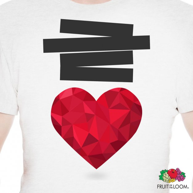 Koszulka Męska z Twoim Nadrukiem SERCE