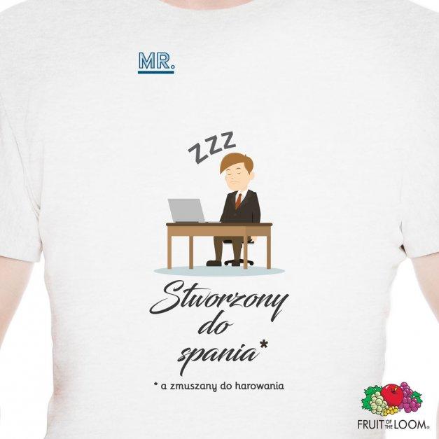 Koszulka Męska z Twoim Nadrukiem STWORZONY DO SPANIA