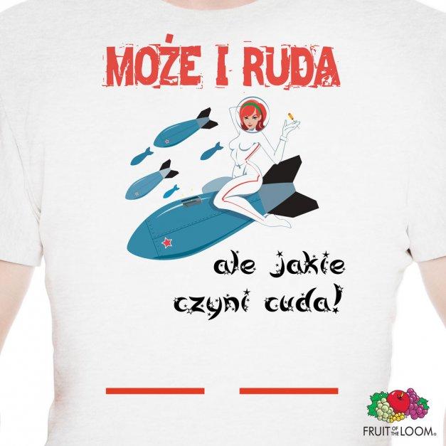 Koszulka Męska z Twoim Nadrukiem RUDA