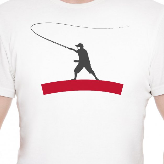 Koszulka Męska z Twoim Nadrukiem WĘDKARZ