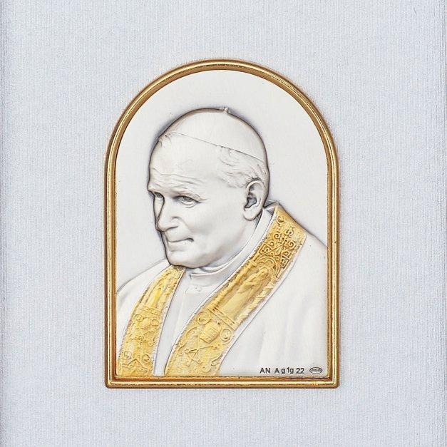 Obrazek Papież Jan Paweł II Prezent Na Chrzest GRAWER