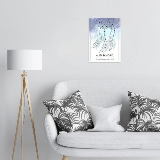 Plakat metalowy Boho M