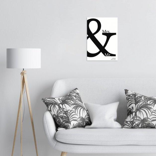 Plakat metalowy Mrs. & Mr. M