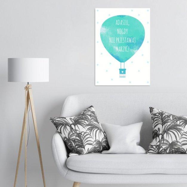 Plakat metalowy Balon L