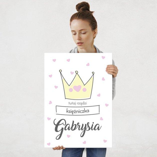 Plakat metalowy Tutaj Rządzi Księżniczka L