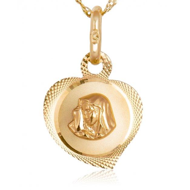 Złoty łańcuszek z medalikiem | Alechrzest.pl