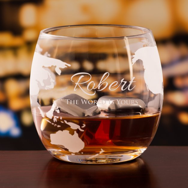 Zestaw do whisky karafka statek szklanki x4 grawer dla niego na osiemnastkę awans