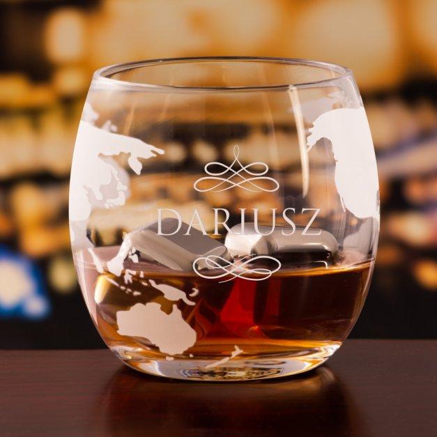 Zestaw do whisky karafka statek szklanki x4 grawer dla niego na imieniny