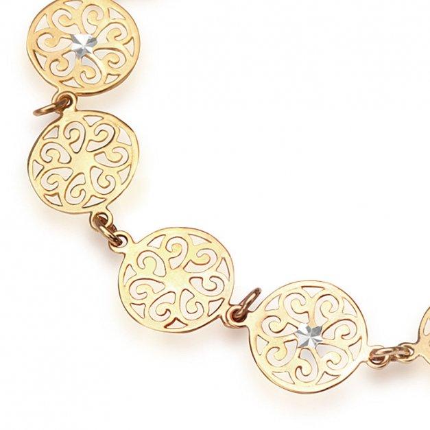 Bransoletka Złota 333 Ażurowa GRAWER