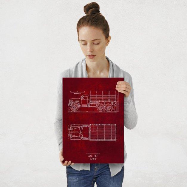 Plakat metalowy ZIL 157 Projekt Scarlet M