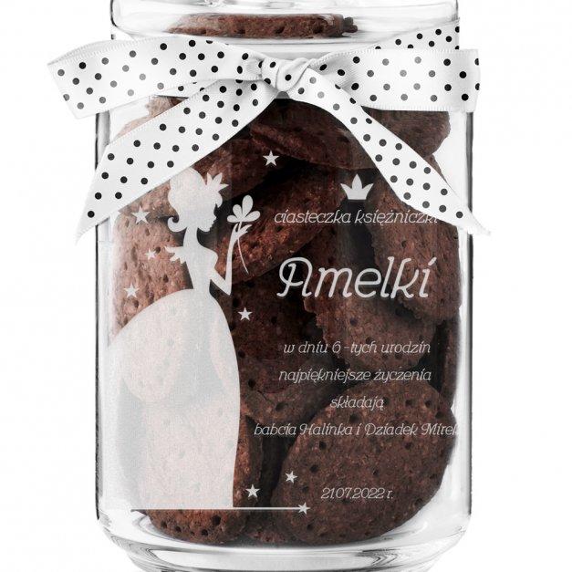 Słoik szklany na ciastka z grawerem dla dziewczynki na urodziny