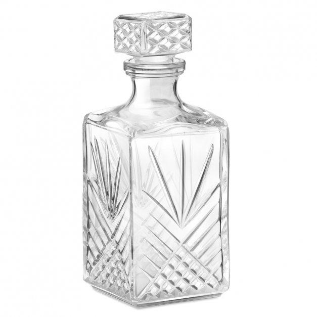 Karafka kryształowa do whisky z 6 szklankami zestaw z grawerem dla niej na zaręczyny ślub panieński