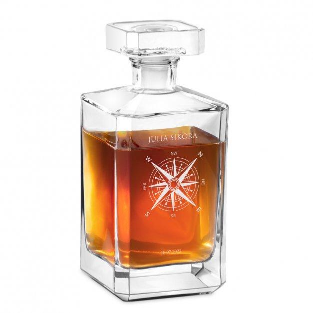 Szklana Karafka Burbon Z Grawerem Podróż