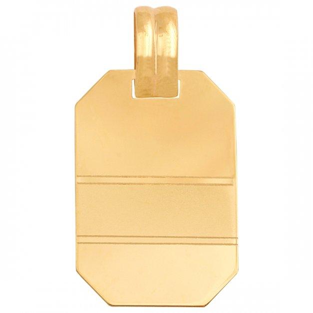 Złota zawieszka 585 z blaszką prezent grawer