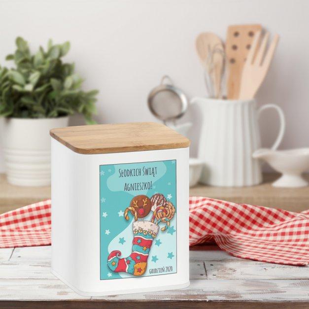 Tradycyjne Pierniki z Torunia w Personalizowanym Pudełku Słodkie Święta