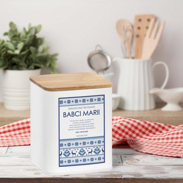 Tradycyjne Pierniki z Torunia w Personalizowanym Pudełku Dla Babci
