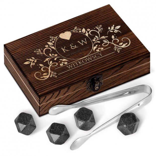 Kamienie do whisky kostki w drewnianym opakowaniu grawer Na Zawsze Razem