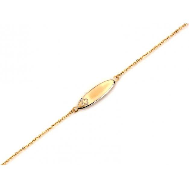 Złota bransoletka 585 dla dziecka prezent grawer