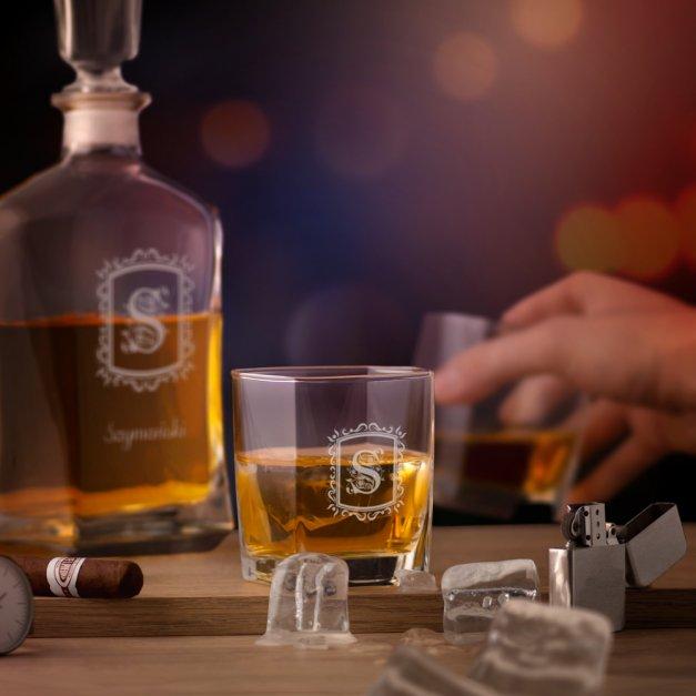 Karafka z 6 szklankami zestaw z grawerem dla pary na ślub rocznicę walentynki