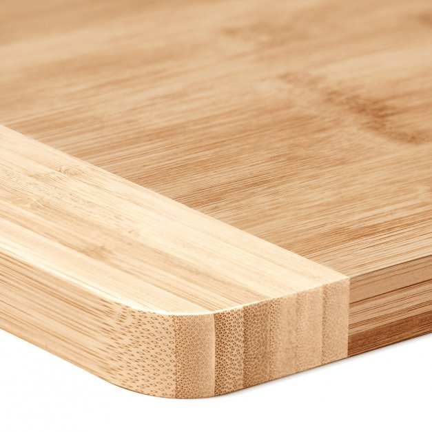 Bambusowa Deska do Krojenia z Grawerem Sztućce