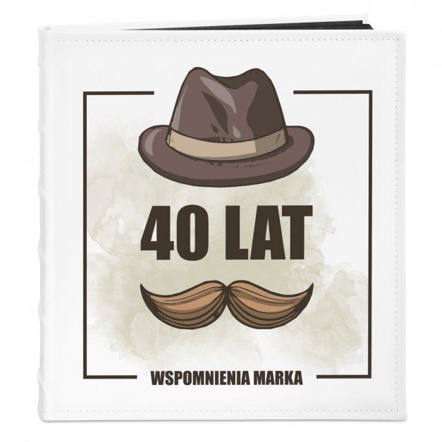 Album Na Zdjęcia Duży Męskie Wspomnienia Nadruk