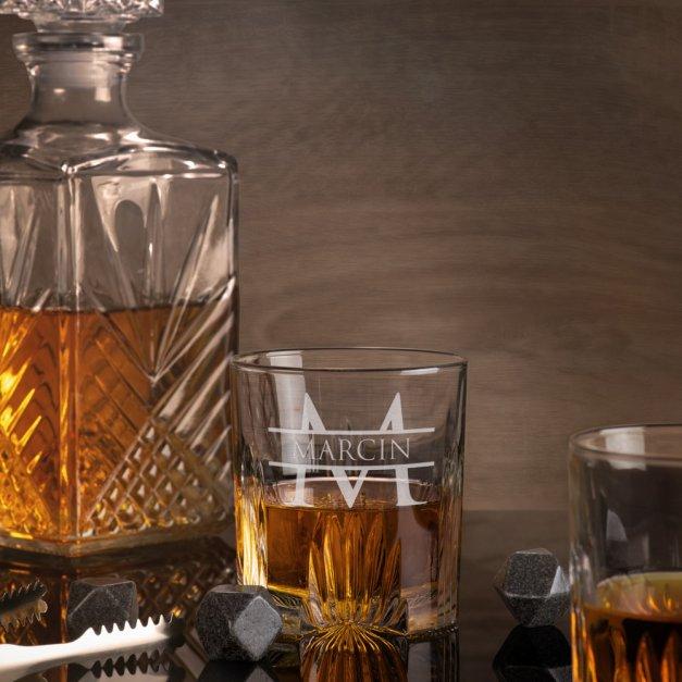 Zestaw Kryształowa Karafka z 6 Szklankami Grawer World