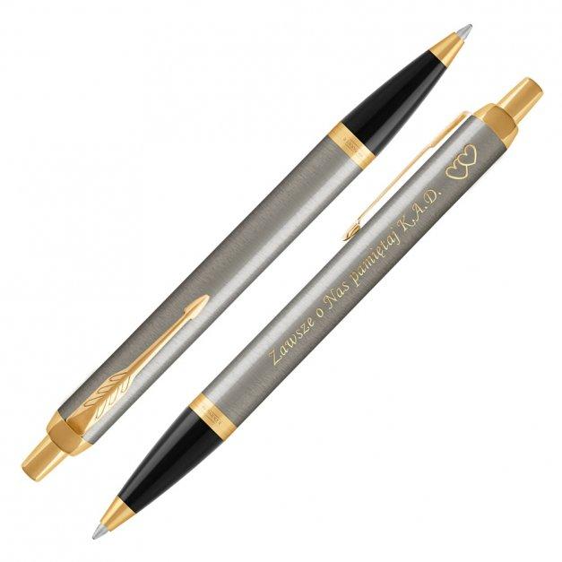 Długopis Parker IM Brushed Metal GT GRAWER i ETUI
