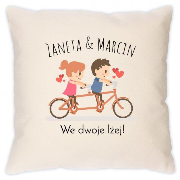 Poduszka personalizowana z nadrukiem WE DWOJE