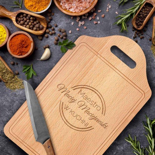 Personalizowana Deska do Krojenia Maestro w kuchni