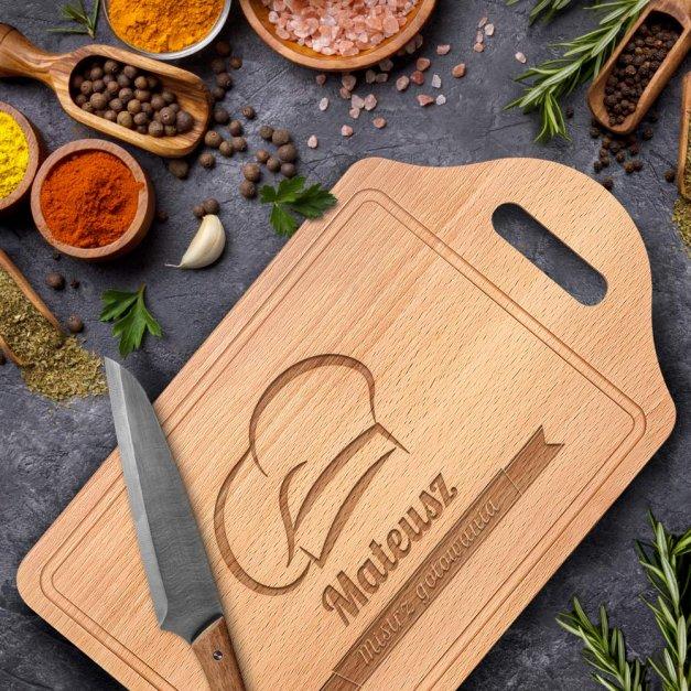 Personalizowana Deska do Krojenia Mistrz Gotowania