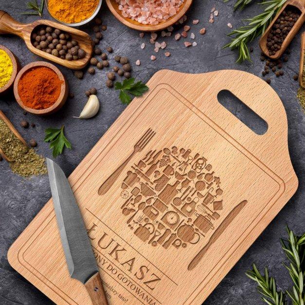 Personalizowana Deska do Krojenia Stworzony Do Gotowania