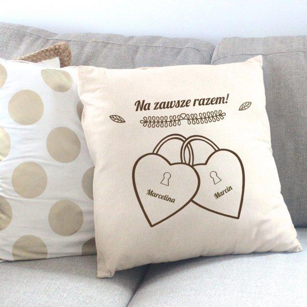 Poduszka personalizowana z nadrukiem KŁÓDKI