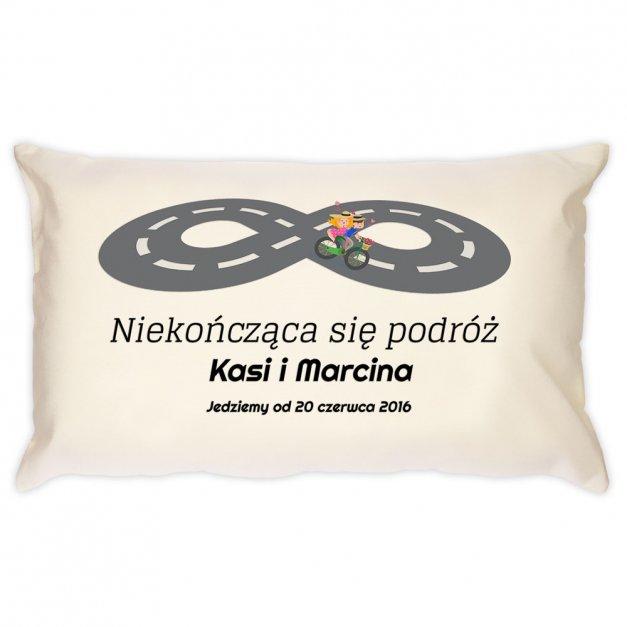 Poduszka personalizowana z nadrukiem PODRÓŻ