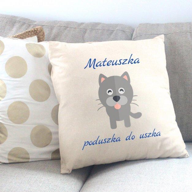 Poduszka personalizowana z nadrukiem KOTEK